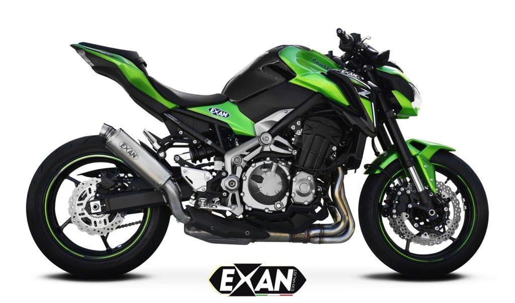 Scarico Exan per la Kawasaki Z900